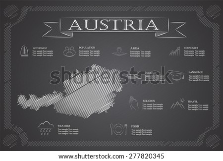 Austria infographics, statistical data, sights. - stock vector