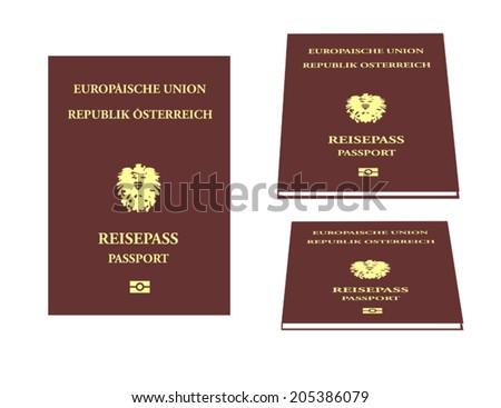 Austrian Passport - stock vector