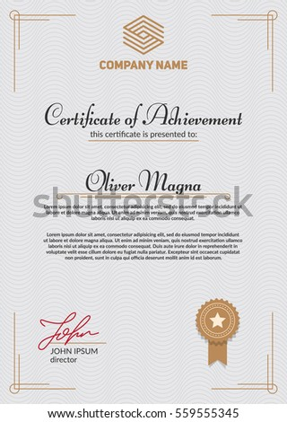Certificate appreciation template cool modern design stock vector authentic certificate template cool elegant design eps10 vector yelopaper Gallery