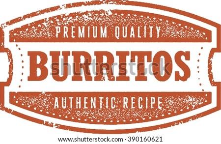 Authentic Mexican Restaurant Burritos - stock vector