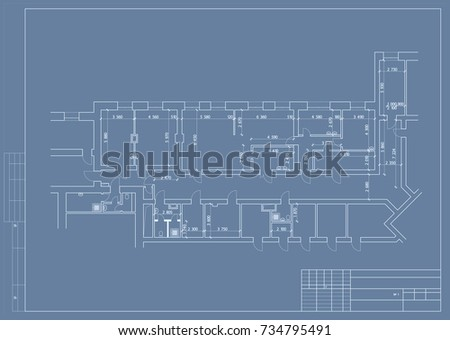 Architectural background house blueprint stock vector 79714966 authors design of hospital and clinic plane 3d blueprint vector malvernweather Image collections