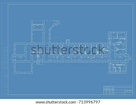 Authors design hotel plane elevation 3d stock vector 713996797 authors design of the hotel plane and elevation 3d the perspective blueprint malvernweather