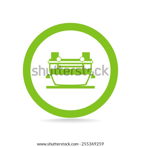 auto accident icon - stock vector