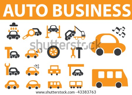 auto business. vector