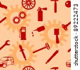 Auto Car Repair Service Icon Symbol. Seamless wallpaper. - stock photo