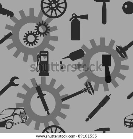 Auto Car Repair Service Icon Symbol. Seamless wallpaper. - stock vector