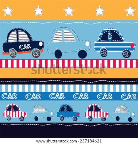 auto card vector illustration - stock vector
