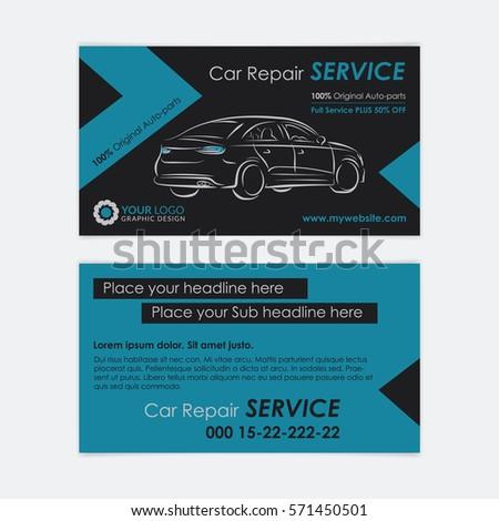 Auto repair business card template create stock vector royalty free auto repair business card template create your own business cards mockup vector illustration colourmoves