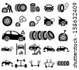 Auto repair Icons - stock vector