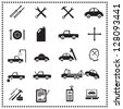 Auto Repairs Icons set, Vector illustration - stock vector
