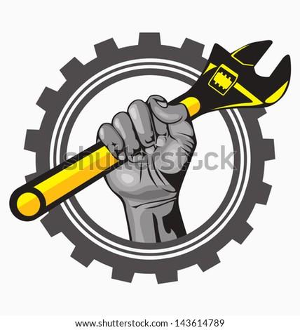 auto service - stock vector