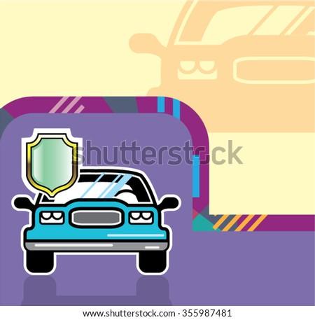 Auto Shield  - stock vector