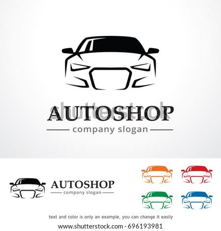auto shop logo template design vector stock vector 2018 696193981 rh shutterstock com auto body shop logo design auto repair shop logo