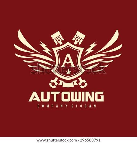 Auto Wing Vector Logo Symbol - stock vector