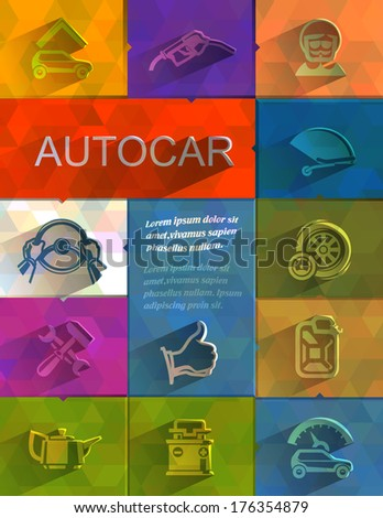 Autocar icons. Vector format - stock vector
