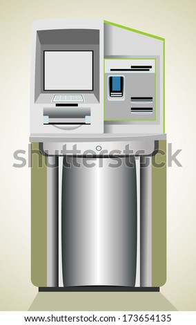 Automated teller machine - stock vector