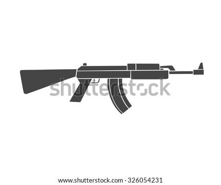 automatic gun - stock vector