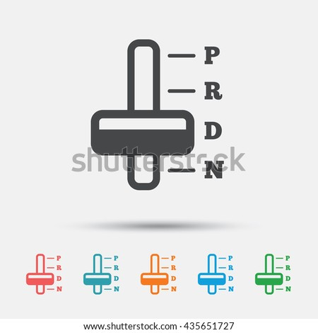Automatic Transmission Sign Icon Auto Car Stock Vector 435651727