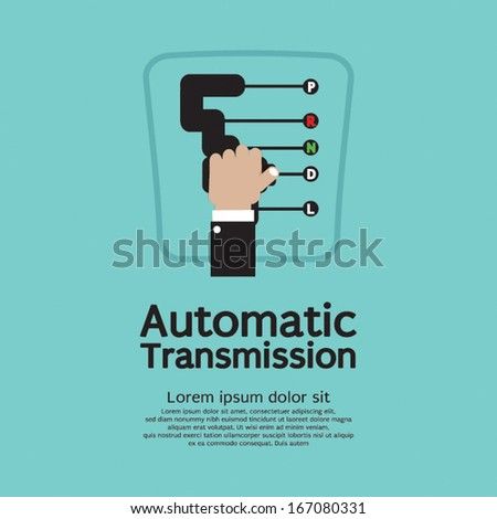 Automatic Transmission Vector Illustration - stock vector