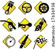 Automobile and Racing icons - part three - stock vector