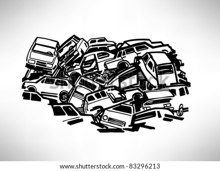 Automobile dump - stock vector