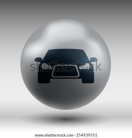 automobile icon car vector vehicle illustration automotive - stock vector