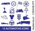 automotive icon collection eps10 - stock vector