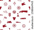 automotive icon pattern eps10 - stock vector