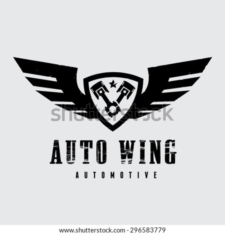 Automotive Wing Vector Logo Symbol - stock vector
