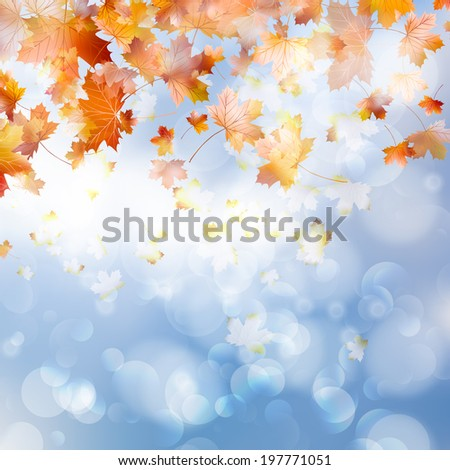Autumn abstract background. And also includes EPS 10 vector - stock vector