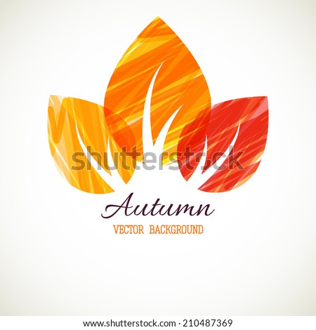 Autumn abstract vector background. Bright leaves  - stock vector