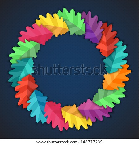 Autumn abstract vector background. simple shapes and bright colors for the fabric,  web,  print. rainbow colors  will make fun of you  - stock vector
