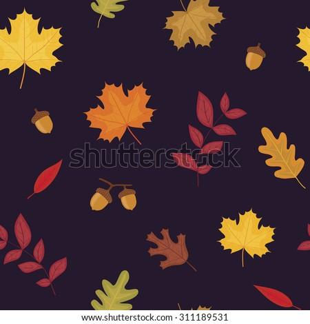 Autumn background seamless - stock vector