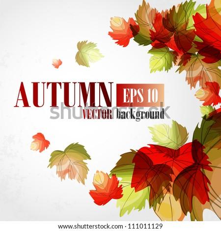 Autumn background. Vector illustration. Eps 10. - stock vector