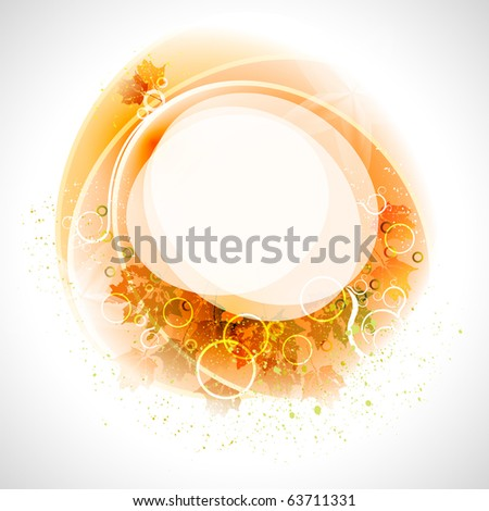 autumn composition with place for text - stock vector