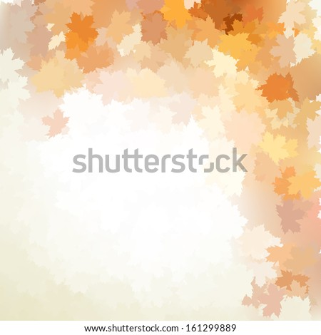 Autumn design background with colorful red and yellow leaves falling from the tree. And also includes EPS 10 vector - stock vector