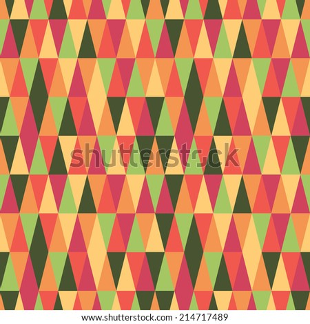 autumn fall seamless geometry - stock vector