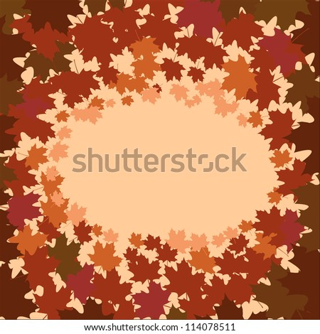 Autumn foliage vector background