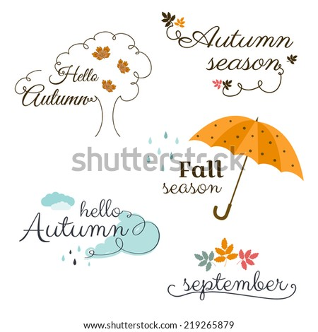 Autumn Labels - stock vector