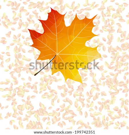 Autumn leaf abstract backgrounds. plus EPS10 - stock vector