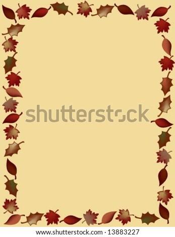 Autumn leaf border. - stock vector