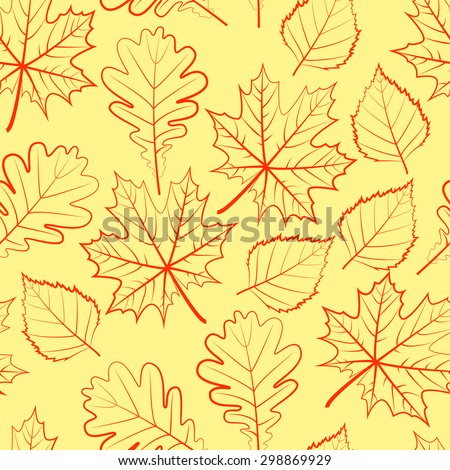 Autumn. Leaf fall. Seamless pattern. - stock vector
