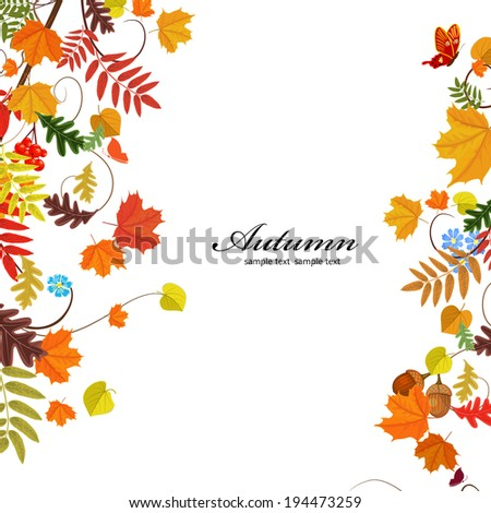 Autumn leaf pattern for your design - stock vector