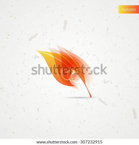 Autumn leaf. Stylized vector graphic - stock vector