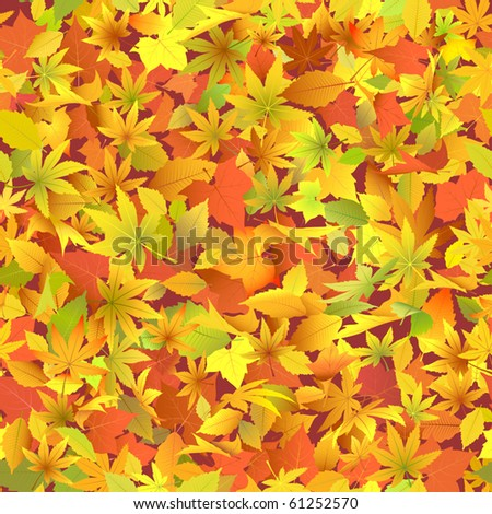 Autumn leaves. - stock vector