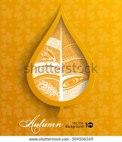 Autumn leaves. Abstract vector background. Eps 10. - stock vector