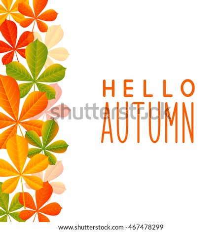 Autumn leaves border for Your design