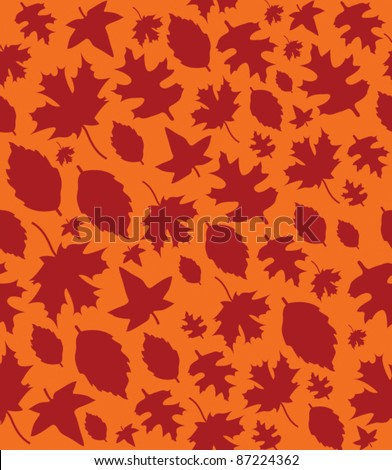 Autumn Leaves Repeat Pattern - 2 - stock vector