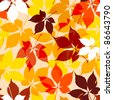 Autumn  leaves seamless - stock vector