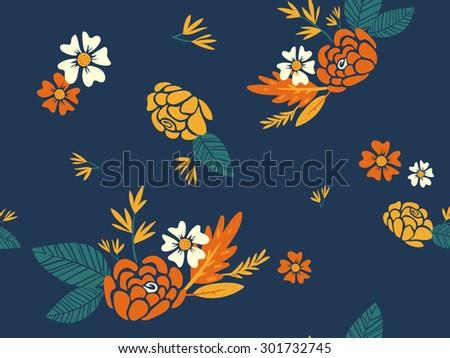 autumn leaves. seamless pattern - stock vector